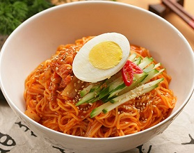 Bibim Guksu - Sweet & Spicy Cold Noodles - 비빔국수