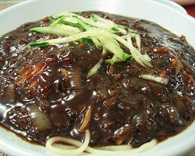 Chajang Myun - Black Bean Paste & Vegetable Noodles - 자장면