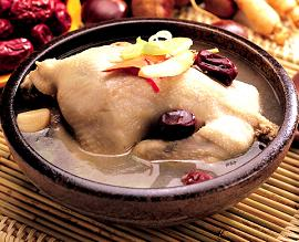 Samgyetang - Chicken Soup with Ginseng - 삼계탕