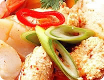 Fish Egg Stew w/ Vegetables