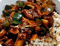 Chajangbop - Black Bean Paste & Vegetable With Rice - 짜장밥