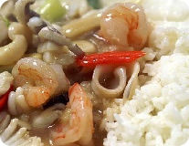 Japtangbop - Stir-Fried Seafood With Rice - 잡탕밥