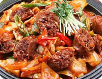Spicy Pork Sausage Stirfry